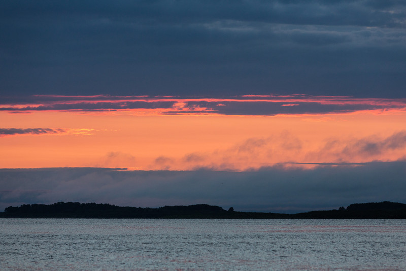 Clouds down the Moose River before sunrise.