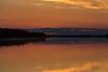 Sunrise on the Moose River at Moosonee, Ontario.