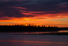 Sky before sunrise over the Moose River at Moosonee. 2013 September 30