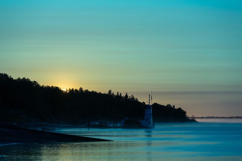 Colour corrected sunrise.