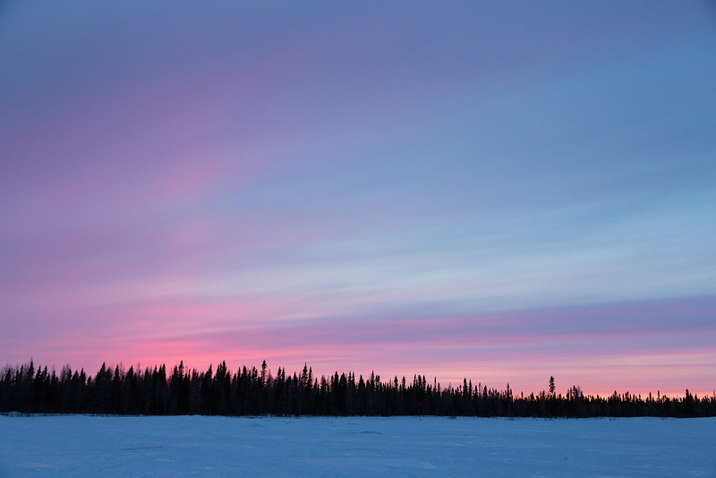 Sky after sunset in Fort Albany.
