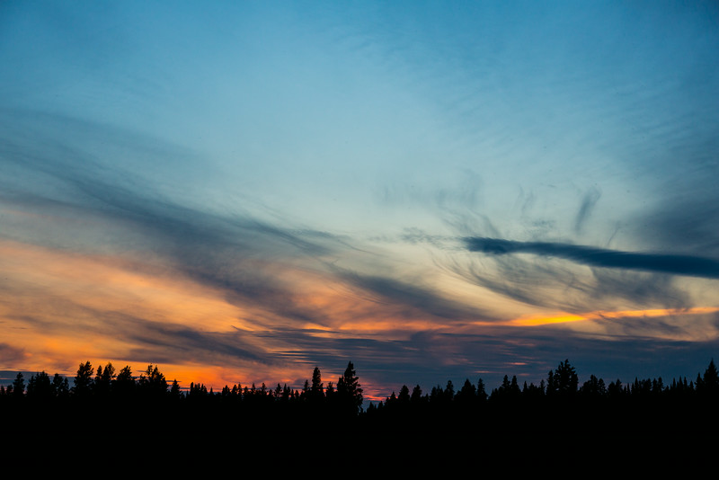 Sunset sky at Moosonee.