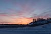 Sky before sunrise in Fort Albany.