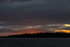 Sky before sunrise at Moosonee looking across the Moose River.