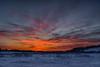 Sky before sunrise in Fort Albany. HDR efx dark.
