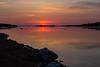 Sunrise looking down the Moose River at Moosonee.