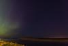 Aurora borealis over the Moose River at Moosonee.