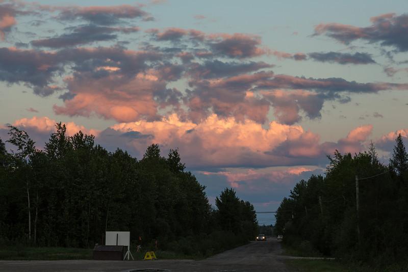 Clouds in the Eastern sky over Moosonee.