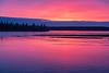Sky and water before sunrise at Moosonee.