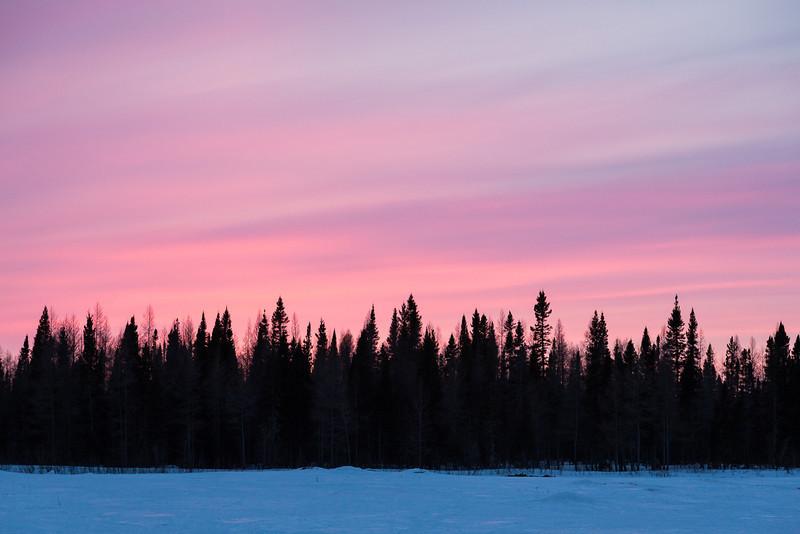 Sky at sunset behind Peetabeck Academy.