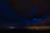 Lighting over the Moose River. Lights from Moose Factory at right.