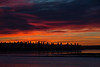 Sky before sunrise over the Moose River at Moosonee.
