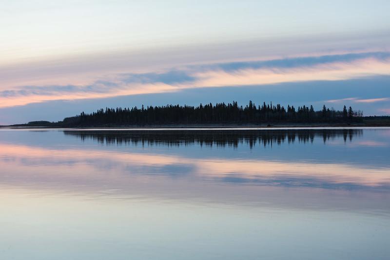 Butler Island before sunrise.