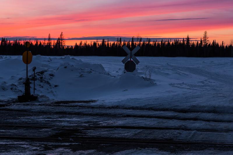Sunset at Moosonee.