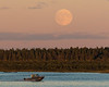 Moon rise across the Moose River from Moosonee 2016 September 15th. Hospital boat.