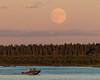 Moon rise across the Moose River from Moosonee 2016 September 15th. Hospital boat.