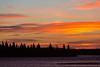 Sky before sunrise over the Moose River at Moosonee, Ontario.