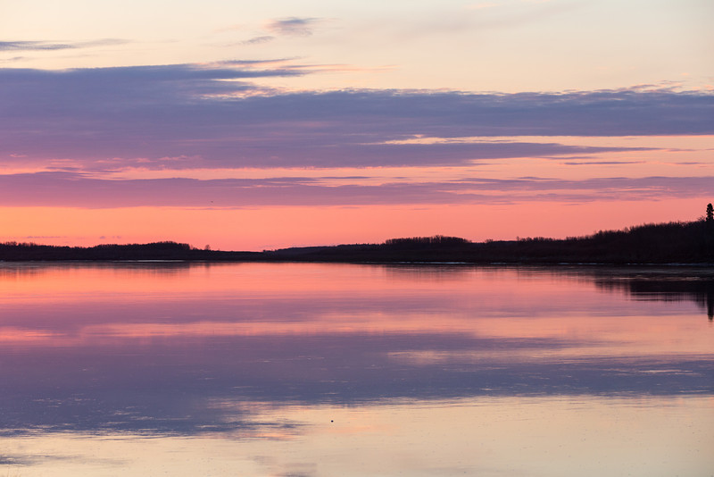 Looking down the Moose River at sunrise.