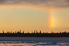 Sundog over Charles Island in the Moose River across from Moosonee.