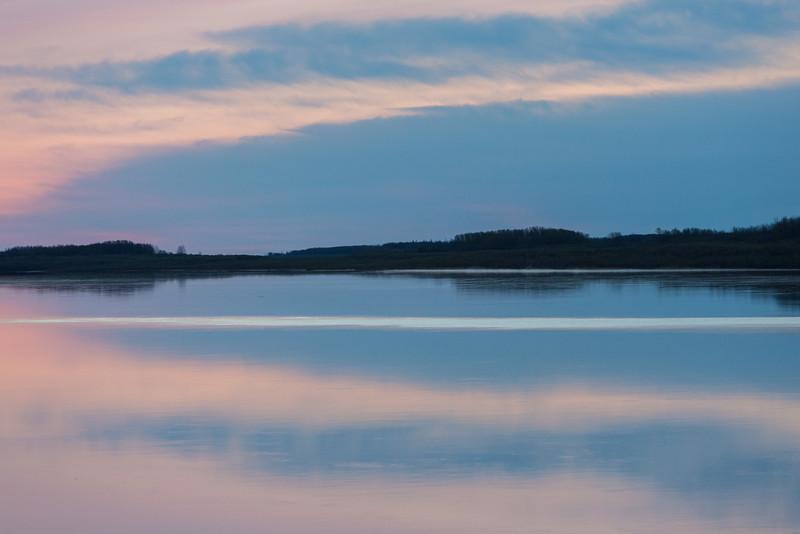 Moose River at Moosonee before sunrise.