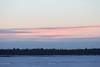 Sky across the Moose River before sunrise.