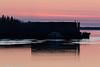 Barges at Moosonee before sunrise.