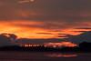 Looking down the Moose River at Moosonee before sunrise.