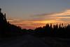 Sky before sunrise east of Cochrane, Ontario.