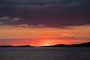 Looking down the Moose River from Moosonee around sunrise.