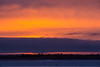 Sky just before sunrise looking across the Moose River from Moosonee.