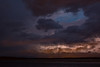 Lightning over the Moose River. Looking east from Moosonee.