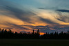 Sunset sky at Moosonee.