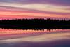 Sky before sunrise on the Moose River at Moosonee.