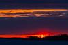 Sunrise at Moosonee. Looking down the Moose River.