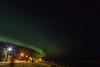 Aurora borealis over Moosonee and the Moose River.