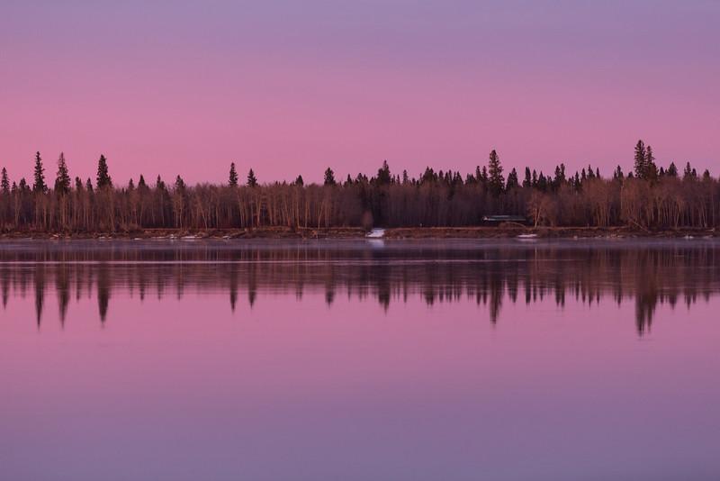 Charles Island just before sunrise.
