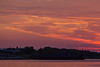 Clouds above the Moose River at sunrise at Moosonee.