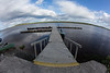 Two Bay docks on the Moose River at Moosonee.