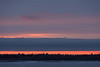 Sky before sunrise, looking across the Moose River from Moosonee.