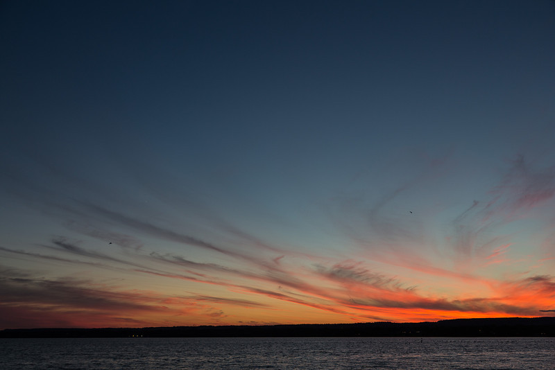 Sky after sunset from near Canada Centre for Inland Waters, Burlington, Ontario.
