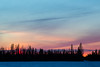 Sunset at Moosonee.