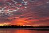 Sky before sunrise over the Moose River at Moosonee.