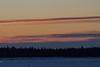 Looking across the Moose River from Moosonee around sunrise.