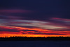 Sky before sunrise morning looking across the Moose River from Moosonee.