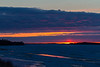 Sunrise at Moosonee. Looking down the Moose River.