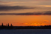 South end of Butler Island at left, pre sunrise sky above Moose Factory Island seen from Moosonee.
