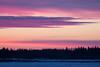 Purple skies across the Moose River.