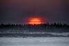 Sunrise across the Moose River from Moosonee. HDR pro graduated 1. 2015 February 7