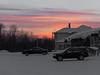 Sunset skies over Moosonee Office Building and former rectory in Moosonee.