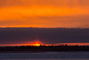Sunrise at Moosonee, looking across the Moose River.